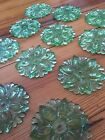 Antique Sandwich Glass Curtain Tiebacks 12 Available Green Depression Glass