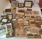 Huge lot of 65 old cabinet photos historic 1890s occupational farm
