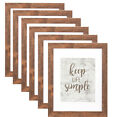 9Pack Picture Frames 5x7 Rustic Frame Set with Mat 4x6 Wall and Tabletop Display