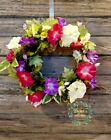 Morning Glory Floral Summer Grapevine Wreath 17 D