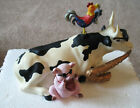 2001 Cow Parade # 9141 Mixed Plate Blues Retired 2001 Numbered with Original BOX
