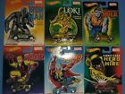 Hot Wheels Marvel 2014 Real Riders Complete Set of 6