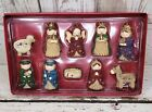 THE PROMISE OF CHRISTMAS 10 Piece Nativity Set  Cable Knit Design