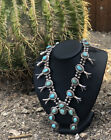 OLD PAWN Vintage NATIVE AMERICAN SQUASH BLOSSOM NECKLACE