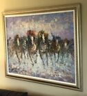 Signed Original Marie Charlot Large Oil On Canvas PaintingBeautifully Framed