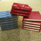 Sizzix lot Alphabet upper lower die cut blocks 14 pieces red and blue