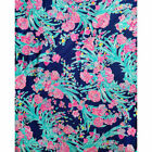 Lilly Pulitzer Cotton Jersey Knit Fabric Corsica Blue Toucan Party 5 Yards x 61