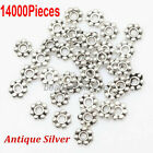 14000Pcs Tibetan Silver Daisy Flower Shaped Spacer Beads Jewelry Making 6mm