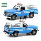 GREENLIGHT 19087 1992 FORD BRONCO LIGHT BLUE NYC POLICE NYPD DIECAST CAR 118