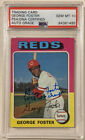 1975 Topps GEORGE FOSTER Signed Baseball Card PSA DNA 87 75 WSC Auto Grade 10
