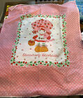 Vintage Strawberry Shortcake Fabric Quilt Panel 35 x 45 Springs Mills 1980