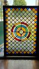 TREMENDOUS ANTIQUE LEADED STAINED GLASS WINDOW LATE 1800s Philadelphia area