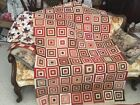 French General 4 Log Cabin Quilt Top 41x 61