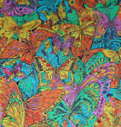 7+ Yards x 42 HOFFMAN Jewels Jungle Colorful Butterflies Cotton Quilt Fabric