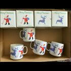 New In Box Set Of 4 Ceramic Christmas Mugs Vintage from1985 9 fl oz