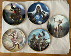 Lot Of 5 Native American Collector Plates Porcelain 8 Various Artists
