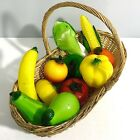 Lot Of 11 Murano Style Blown Glass Art Fruit And Vegetables Basket NOT included