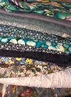 Lot Of Blue Fabric 4 lbs total 12 pieces