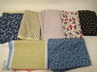 18yd lot 100 cotton QUILTING FABRIC material red white blue camo plaid cheater