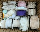 Lace Trim Lot Vintage to Now Fabric Ribbon Rose Appliques Sew Craft Tatting