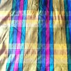 Golden  Jewel Tone Plaid Silk Dupioni Gorgeous for all kinds of formal wear