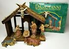 7 Figure Nativity Set w Wood Creche DiGiovanni by Autom 1998 Heirloom Collection