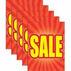 Sale Store Business Retail Display Signs 18x24 Full Color 5 Pack