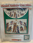 Dimensions Blessed Nativity Christmas Tree Skirt Cross Stitch Kit 46 8379 NOS