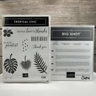 Stampin Up Tropical Chic Clear Mount Stamps  Tropical Thinlits Dies Leaves