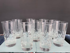 Vintage Clear Glass Crystal Cut Highball Glasses 9