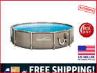 New Tan Summer Waves 10ft X 30in Frame Above Ground Swimming Pool Free Shipping
