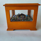 Mr Christmas Animated Nativity Music Box Away In A Manger Song 5 Windows  Wood