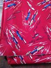 100 cotton quilt fabric Michael Miller Calling All Cars red vintage look 3+yd