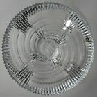 Bohemia Crystal 115 Footed Bowl Whorl Pattern Made in Czech Republic