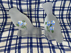 FENTON GLASS HAND PAINTED BIRDS FROSTED GLASS