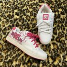 Y2K 2000s DC hot pink white embroidery graphic skate chunky trainers Size 7
