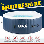 4 Person Inflatable Spa Tub w 120 Jets  Hot Tub Cover for Patio Backyard  More