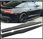 Fits 10 15 Chevy Camaro Luxury Style Black Unpained Side Skirts Body Kit