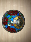 Tiffany Style 8 Inch Stained Glass Slag Floral Pattern Lamp Light Shade Pretty