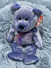 2000 Ty Beanie Babies Periwinkle The Bear  #4400, New Mint With Tags