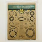 Compatibles Spellbinders Precut Unmounted Red Rubber Stamps Blossom Stackers