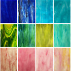 LITMIND 12 Sheets Variety Stained Glass Sheets Pack 4 X 6 Inch Mosaic Glass