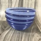Signed Art Glass Bowl with Applied Spiral Coil