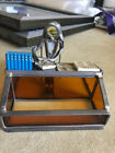 Business Card Holder for Female Doctor hand made of glass and metal