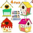 Kids Activities Art and Crafts for Kids 4 Pack DIY Bird House Kit for Children