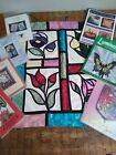 quilt pattern lot STAINED GLASS religious angel Christmas banner books applique