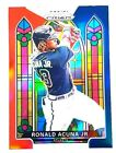 RONALD ACUNA Jr 2021 PANIN PRIZM RED WHITE  BLUE STAINED GLASS Prizm SG4
