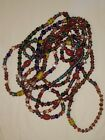 110 Inch Very Long Multicolor Glass Bead Necklace Flapper vintage