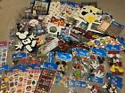 Lot Disney Scrapbook Stickers Rub ons Stamps Tape Ribbon Brads Eyelets Clips