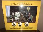 Real Life Nativity Three Kings Gifts 14 pc Hand painted w 23K gold Christmas